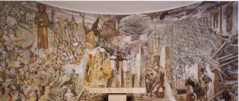 The Mural of St. Francis, Avellino, Italy, created by the artist Ettore de Conciliis