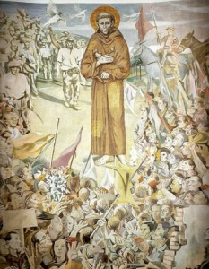 Mural of St. Francis created by Ettore de Conciliis